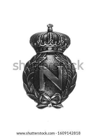 medieval silver royal heraldic emblem, shield #1609142818