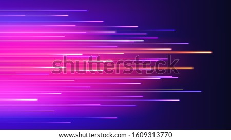 Speed movement technology connection concept neon abstract vector background Royalty-Free Stock Photo #1609313770