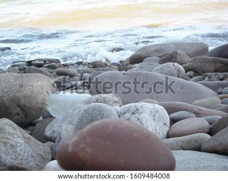 stones turned by time on the Black Sea coast #1609484008