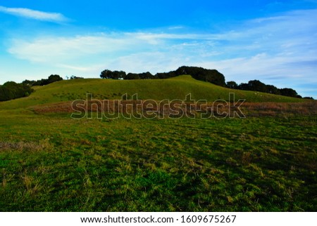 California hills after a winter storm. Royalty-Free Stock Photo #1609675267