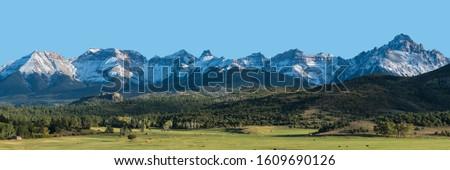 Dallas Divide mountain range in San Juan mountains of Southwest Colorado Royalty-Free Stock Photo #1609690126