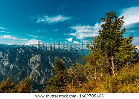 Mount Triglav, highest mountain in Slovenia, part of European Alps #1609705603