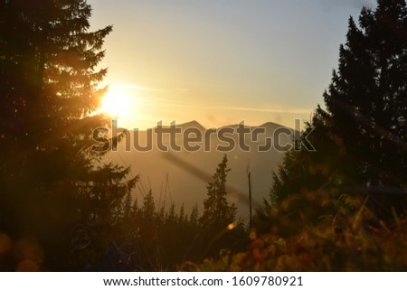 Sunset in the beautiful mountains #1609780921