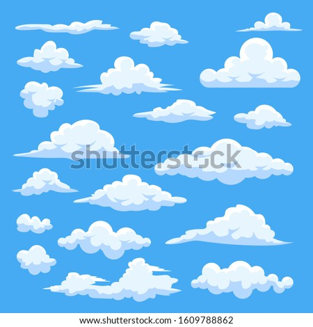 Cloud vector set collection graphic clipart design