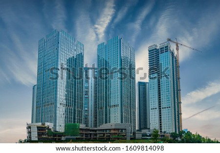 Commercial buildings and real estate developments in chengdu, sichuan province, China #1609814098