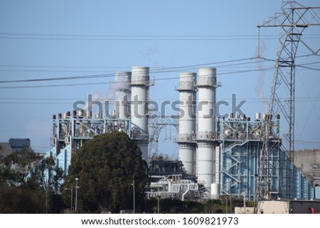 Power Plant, power lines/ cables. #1609821973