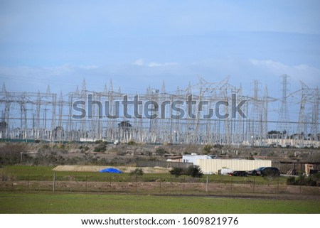 Power Plant, power lines/ cables. #1609821976