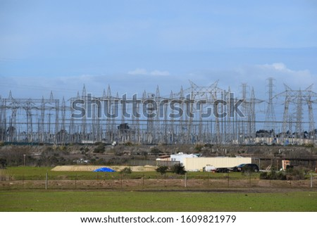 Power Plant, power lines/ cables. #1609821979
