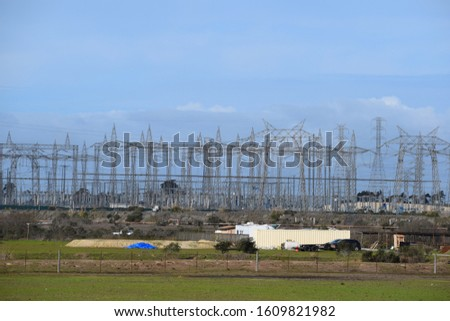 Power Plant, power lines/ cables. #1609821982