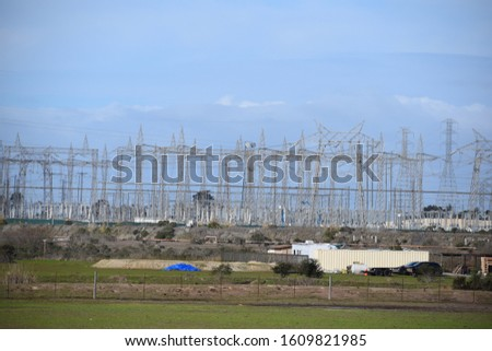 Power Plant, power lines/ cables. #1609821985