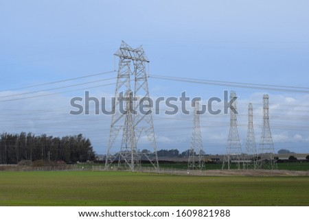 Power Plant, power lines/ cables. #1609821988