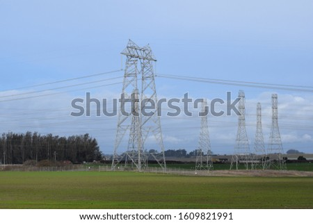 Power Plant, power lines/ cables. #1609821991