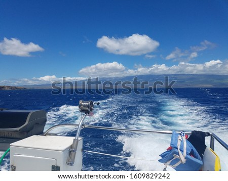 Boat on the water in Hawaii #1609829242