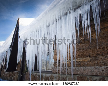 Icicles Royalty-Free Stock Photo #160987382