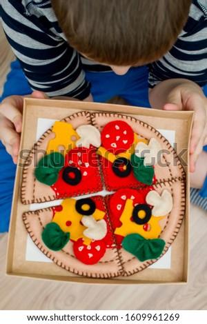 Felt pizza. Felt food toys for the kids #1609961269