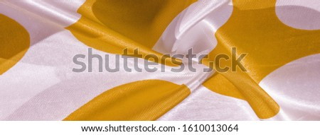 Texture, background, pattern, postcard, silk fabric, yellow sunglow white ovals, your projects will not go unnoticed with this fabric, buying this weave will awake the best #1610013064