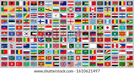 all world countries national flags Royalty-Free Stock Photo #1610621497