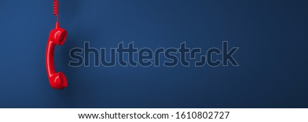 Shot of a landline telephone receiver with copy space for individual text Royalty-Free Stock Photo #1610802727