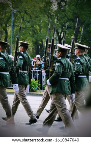 Military parade of Independence Day in Buenos Aires, July 9, 2019.  #1610847040