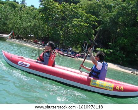Patong, Phuket / Thailand - January 6, 2020: The amazing city, beaches and islands of Phuket #1610976118