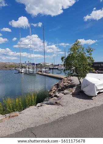 dockside scenery with marina scenery  #1611175678