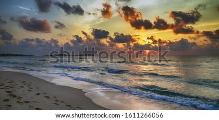 Coast of sea, ocean. Sea surf. #1611266056