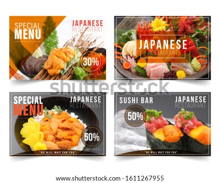 Design banner restaurant for social networks, Template for advertising	 #1611267955