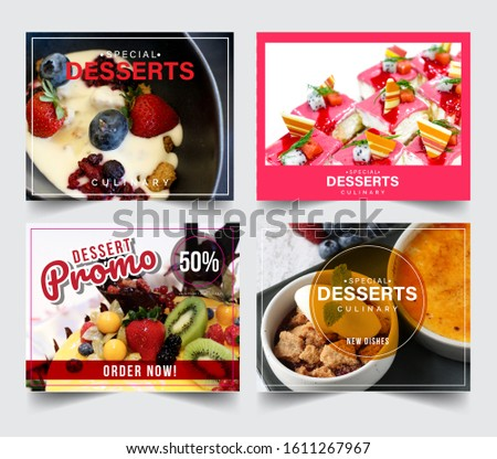 Design banner restaurant for social networks, Template for advertising	 #1611267967