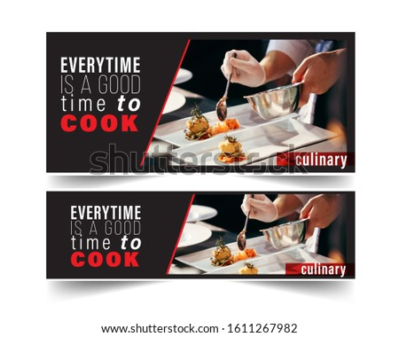 Design banner restaurant for social networks, Template for advertising	 #1611267982