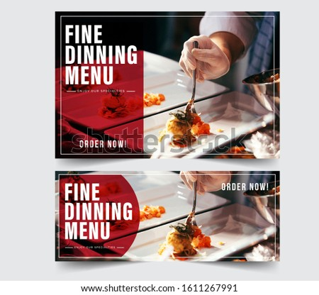 Design banner restaurant for social networks, Template for advertising	 #1611267991