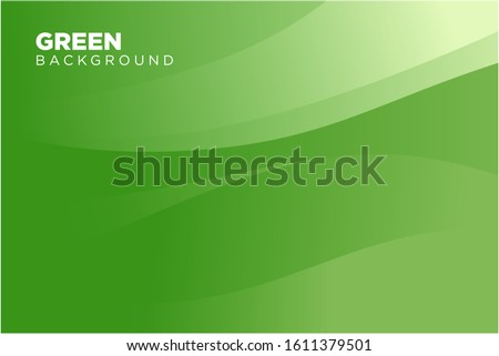 Abstract Green Background Template Vector, Green Background with Beautiful Wave Design Royalty-Free Stock Photo #1611379501