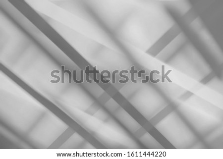 Abstract architecture black shadow and light in dark office room background on white wall from window, shadows indoor in house black and white background