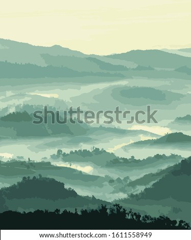 nature mountain vector sunrise background #1611558949