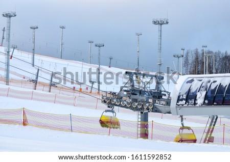 On the ski slopes in winter #1611592852