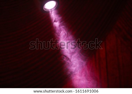 scene, stage light with colored spotlights and smoke  #1611691006