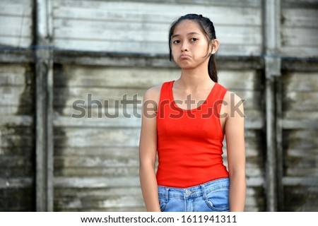An Unhappy Thin  Young Person #1611941311