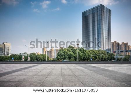 modern skyscrapers in modern city #1611975853