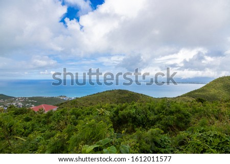 View from Pic Paradis in Saint Martin