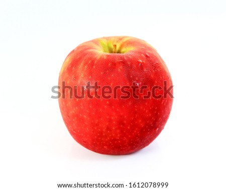 Red fresh apples on a white background #1612078999