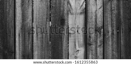 Wooden planks in black and white, background #1612355863