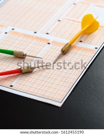 optical exam paper and dart, achieving the goal, achieving success, #1612455190