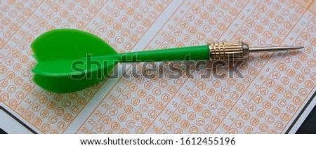 optical exam paper and dart, achieving the goal, achieving success, #1612455196