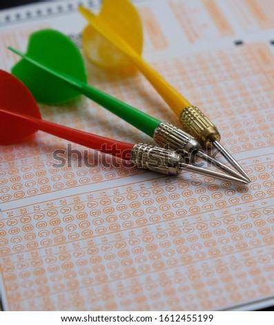 optical exam paper and dart, achieving the goal, achieving success, #1612455199