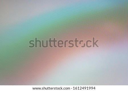 abstract background, the interaction of digital matrices, turquoise pink tone with a rainbow gradient, interference lines #1612491994