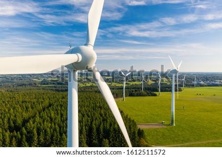 Wind Turbines Windmill Energy Farm #1612511572