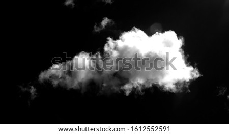 Abstract fog or smoke effect black background white smoke