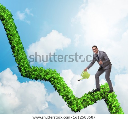 Businessman in responsible ecological business #1612583587