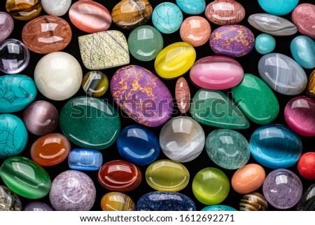 Colored Natural Gemstones. Semiprecious Stones #1612692271