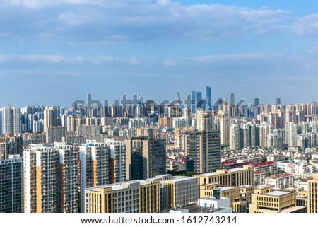 Skyscrapers and skyscrapers in Wuxi City, Jiangsu Province, China #1612743214