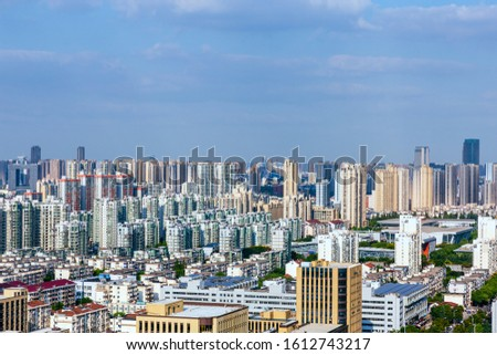 Skyscrapers and skyscrapers in Wuxi City, Jiangsu Province, China #1612743217